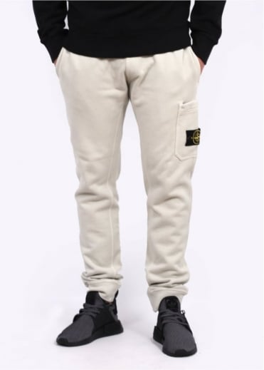 Stone Island Fleece Sweatpants - Plaster