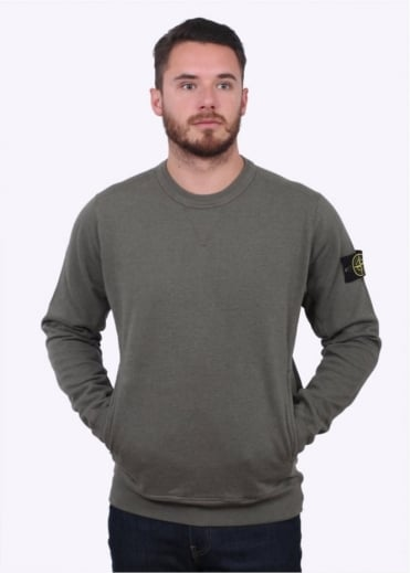 Stone Island Knit Sweat - Sage