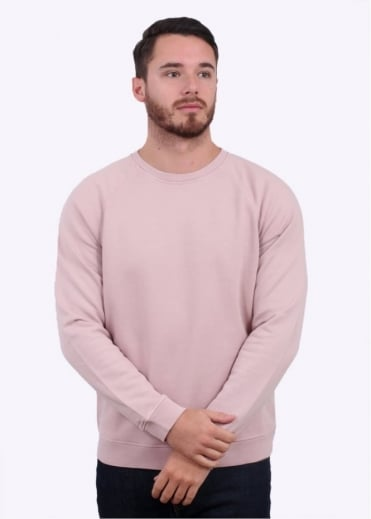 Folk Raglan Sweater - Dusty Pink