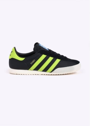 Adidas Originals Spezial Samba - Black / Lime