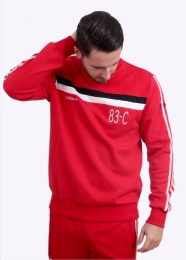 Adidas Originals Apparel 83-C Crew Sweater - Red