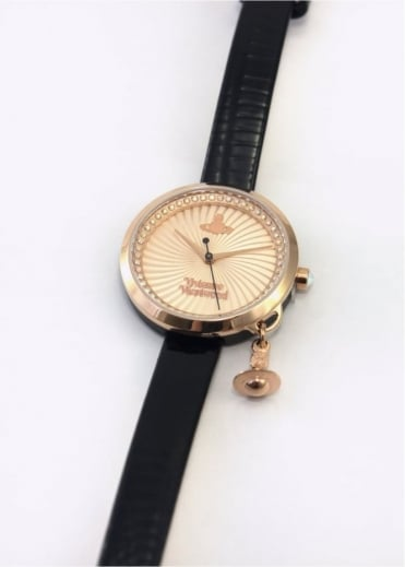 Vivienne Westwood Ladies Watches Bow Watch Black/Rose
