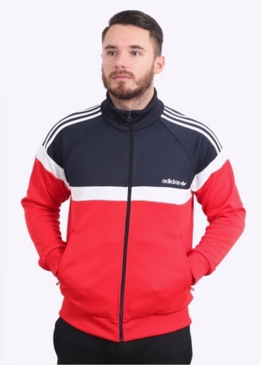 Adidas Originals Apparel Itasca Track Top - Vivid Red / Ink