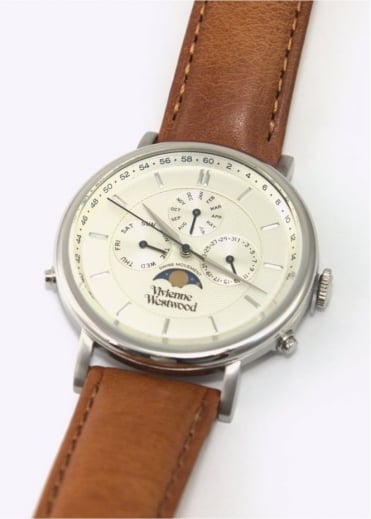 Vivienne Westwood Mens Watches Portland Watch Brown/Silver