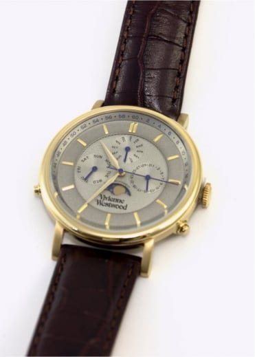 Vivienne Westwood Mens Watches Portland Watch Brown/Gold