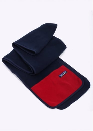 Patagonia Synchilla Scarf - Navy / Red
