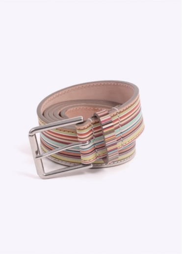 Paul Smith Stripe Belt - Multi