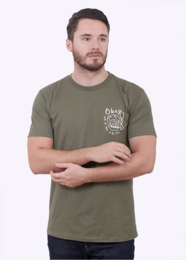 Obey Life Is Hell - Military Olive
