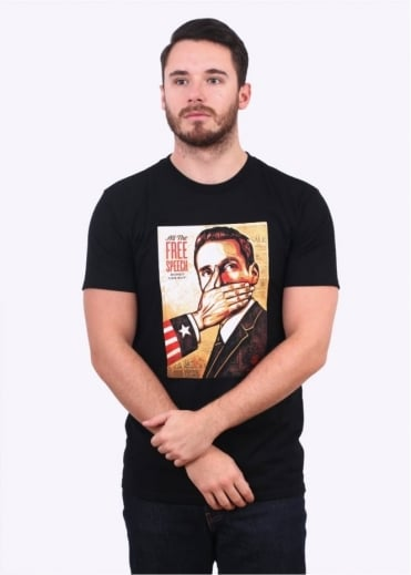 Obey Pay Up Or Shut Up Tee - Black
