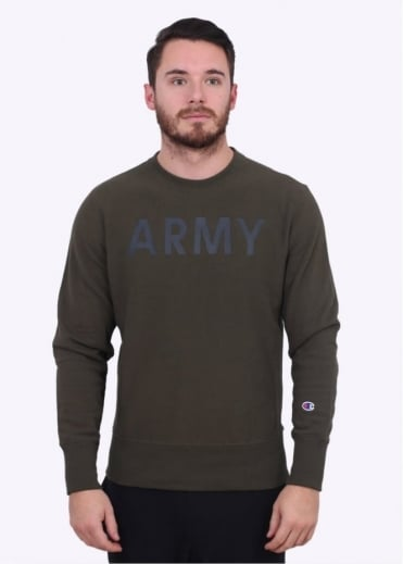 Champion Crew Army Sweater - Olive