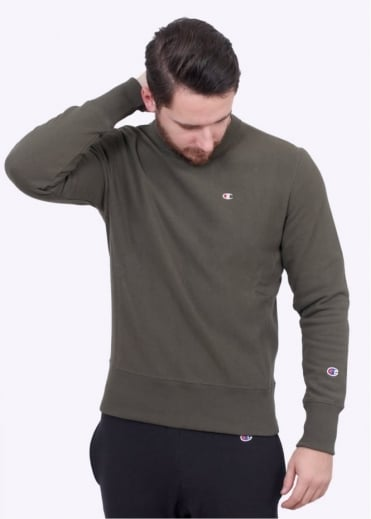 Champion Classic Crew Sweater - Olive