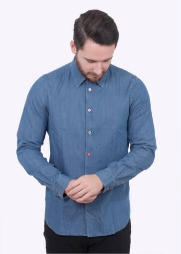 Paul Smith Tailored LS Shirt - Light Indigo
