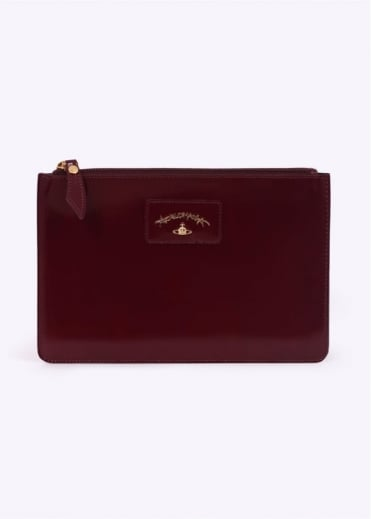 Vivienne Westwood Accessories New Castle Envelope Bag Bordeaux
