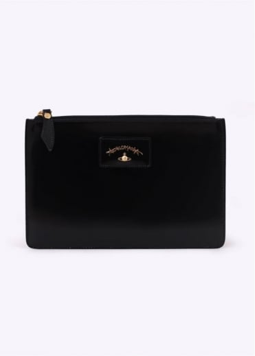 Vivienne Westwood Accessories New Castle Envelope Bag Black