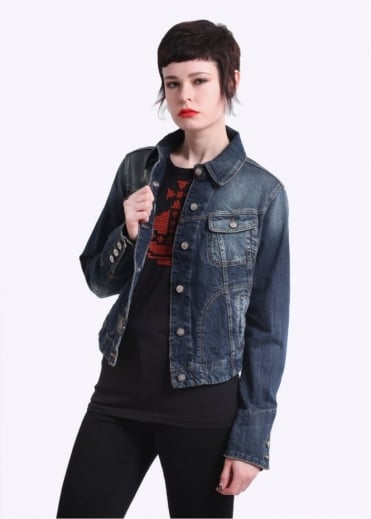 Vivienne Westwood Anglomania Jeans Icon Jacket - Distressed Blue