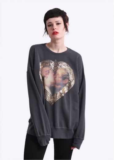 Vivienne Westwood Anglomania Hercules Kiss Gusset Sweater - Grey