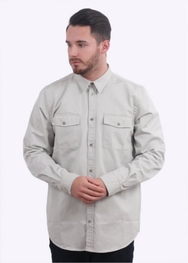 Norse Projects Villads Compact Twill Shirt - Clay