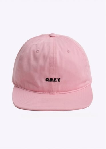 Obey Contorted 6 Panel Hat - Pink