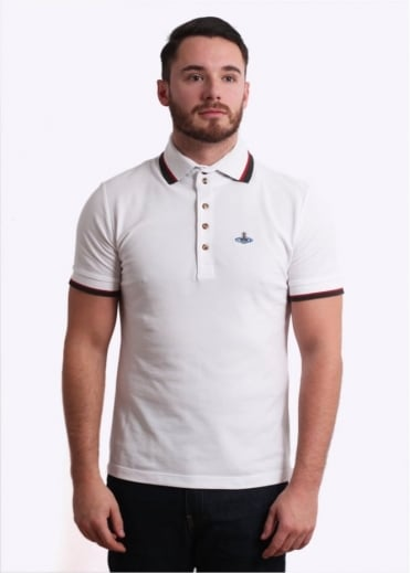 Vivienne Westwood Mens Krall Polo Shirt - White