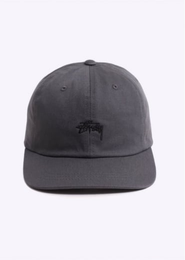 Stussy Stock Low Cap - Charcoal