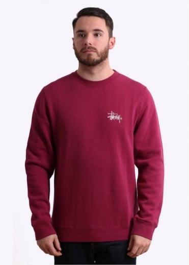 Stussy Basic Logo Crew Sweater - Grape