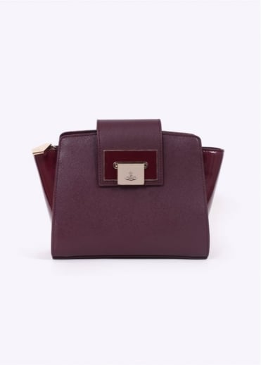 Vivienne Westwood Accessories Opio Saffiano Mini Handbag - Bordeaux