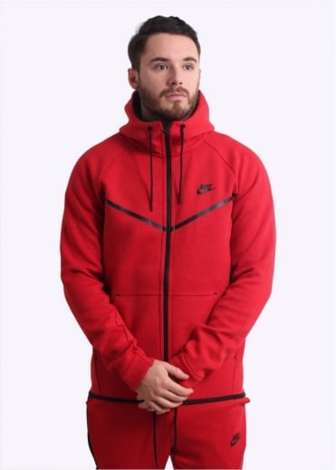 Nike Apparel Tech Windrunner Hoodie - University Red