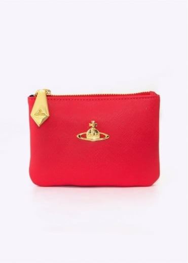 Vivienne Westwood Accessories Saffiano Purse Red Small