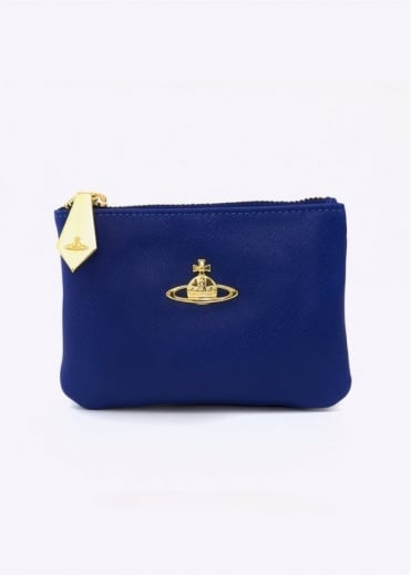 Vivienne Westwood Accessories Saffiano Purse Navy Small