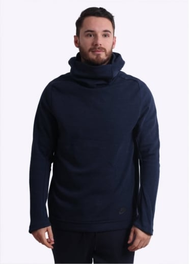 Nike Apparel Tech Funnel Neck Hoodie - Obsidian