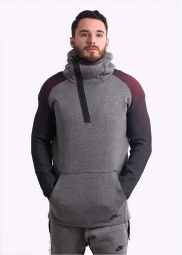 Nike Apparel Tech Fleece Ribbed Hoodie - Carbon