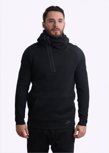 Nike Apparel Tech Fleece Ribbed Hoodie - Black