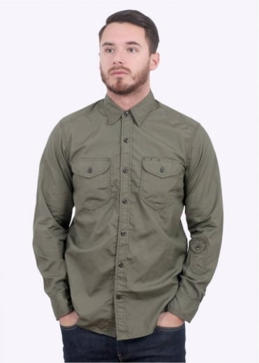 Monitaly Triple Needle Shirt - Olive