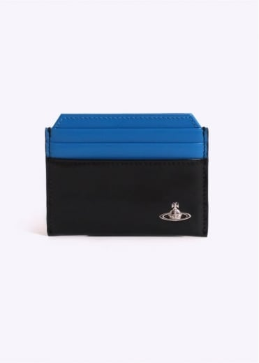 Vivienne Westwood Bicolored New CC Holder - Black / Light Blue