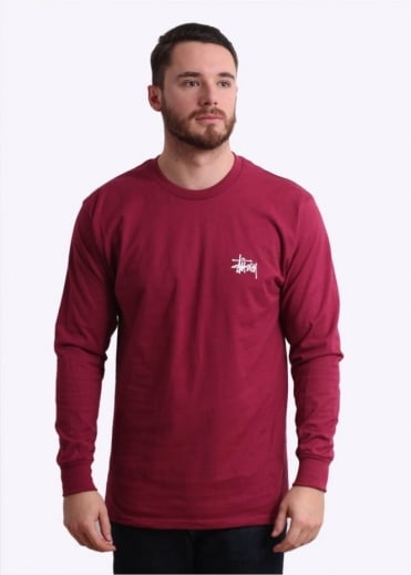 Stussy Basic LS Tee - Grape