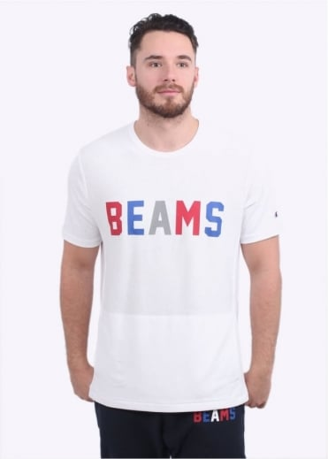 Champion x Beams Crew Neck T-Shirt - White