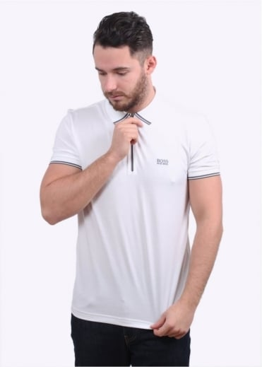 Hugo Boss Green Philix Polo Shirt - White