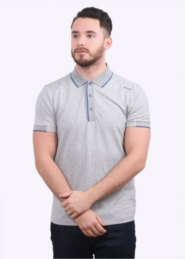 Hugo Boss Green Paule 1 Polo Shirt - Light Grey