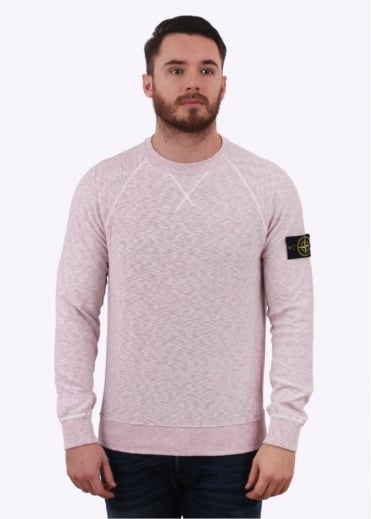 Stone Island Badge Sweater - Pink
