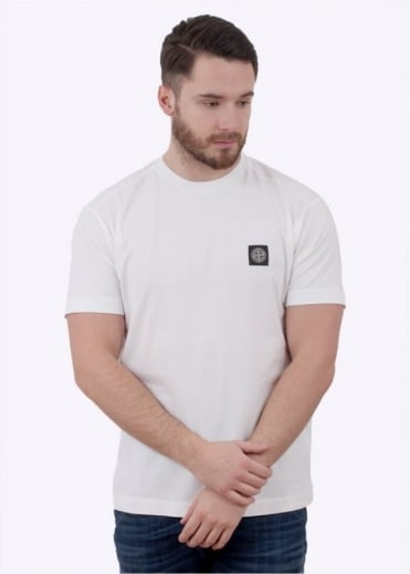 Stone Island Badge Logo Tee - White