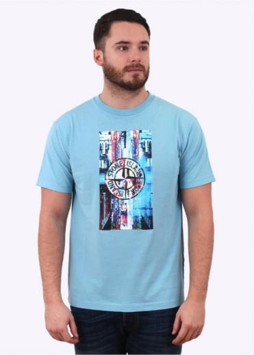 Stone Island Graphic Tee - Sky Blue
