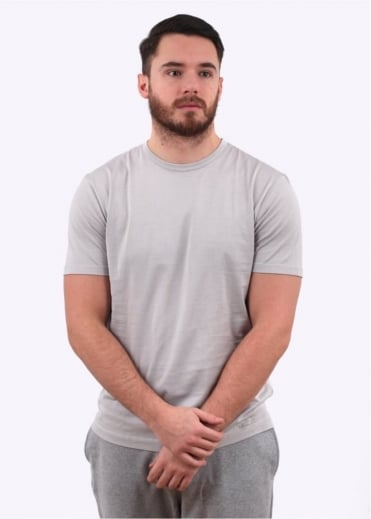 Sunspel Q82 Short Sleeve Crew Neck -Pebble Grey