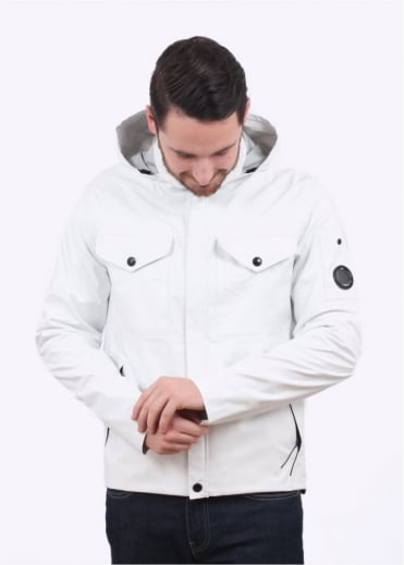 C.P. Company Hooded Jacket - White