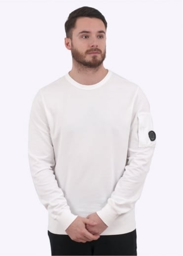 C.P. Company Crew Sweat - Optical White