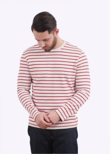 Levi's Red Tab LS Mission Tee - Cherry Red / White
