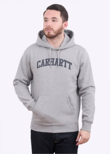 Carhartt Hooded Yale Sweat - Grey / Navy