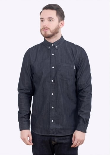 Carhartt LS Civil Shirt - Blue Rinsed