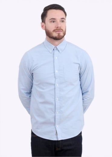 Carhartt LS Button Down Pocket Shirt - Blue