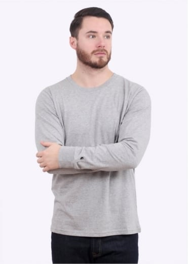 Carhartt L/S Base T-Shirt - Grey / Black