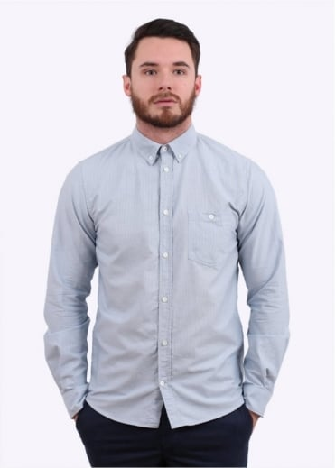 Norse Projects Anton Oxford Shirt - Marginal Blue